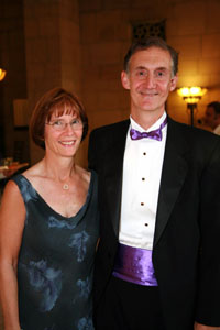 Photograph of Ed Lazowska and Lyndsay Downs, September 2006