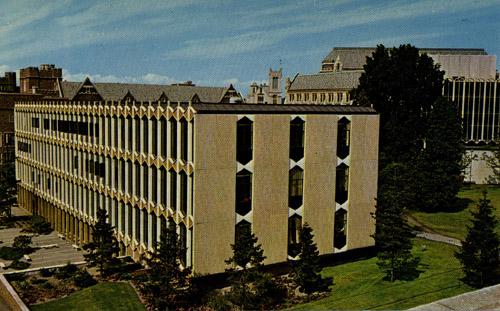 sieg hall featured on postcard
